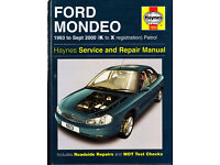 HAYNES FORD MONDEO SERVICE & REPAIR MANUAL 1993 to 2000 PETROL