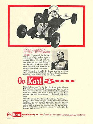 Vintage Color 1961 Go-kart 800 Go-kart Ad
