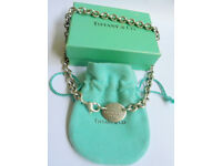Genuine Tiffany & Co Please Return to Tiffany & Co New York choker 6 images sign
