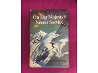 Rare Vintage Ian Fleming On Her Majesty's Secret Service HB 1st Edition Book Club Edition 1963 SDHC