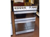 60cm Hotpoint CredaCeramic Top Cooker, Double Oven Fan Assisted/ Grill - 6 Months Warranty