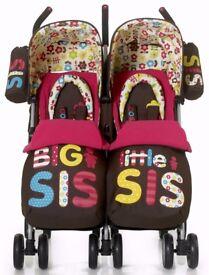 Big sis little sis double buggy