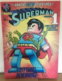 Lego DC Comics Superman Canvas Print