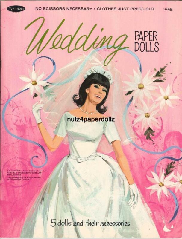 VINTAGE 1966 WEDDING PAPER DOLLS ~PRETTY HD LASER REPRODUCTION~ORIG. SIZE UNCUT