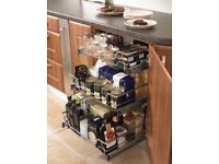3 x Pull out kitchen organisers- soft close versions.