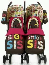 Twin pushchair
