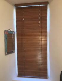 2 Large Wooden Venetian Blinds - Brown