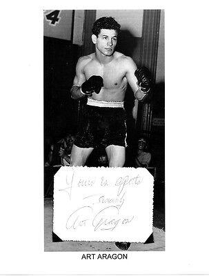 Art Aragon Autograph Lightweight Boxer Actor Golden Boy Boxing Marilyn Monroe