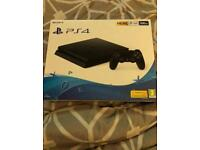 PS4 Slim 500GB with 3 games including cod ww2