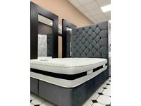 SKY BED 70 INCH HIGH KING SIZE WITH/WITH OUT ORTHOPAEDIC MATTRESS DIFFERENT FABRIC AND COLOURS