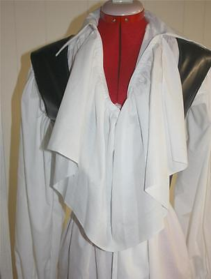 NEW PIRATE SHIRT WHITE, RUFFLES & LACE CUSTOM MADE TO FIT YOU, ANY (Custom Made Pirate Kostüm)