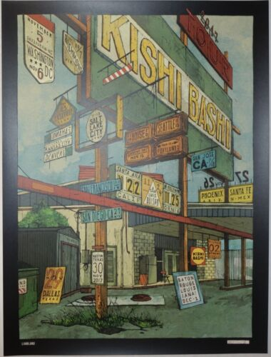 2017 Kishi Bashi - Fall Tour Silkscreen Concert Poster by Landland S/N