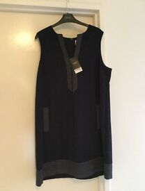 Next navy dress with stitching detail. Brand new with tag.