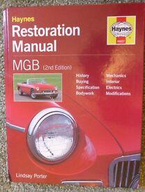 The Haynes MGB restoration manual