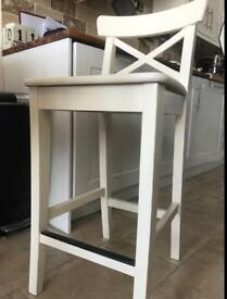 INGOLF IKEA CHAIRS WITH BACKREST - 63 CM seat height version