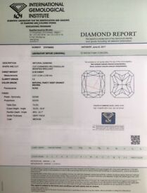 Natural Diamond 0.18 ct fancy deep orangy brown