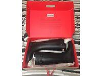 Ladies Hunter Wellingtons Original Refined Back Strap Wellies Black size 6