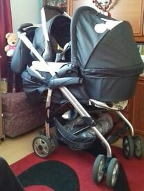 Micky mouse travel system for sale with rain covers for £50 please.collection upper stratton.