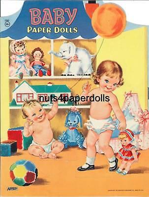 VINTAGE 1963 BABY PAPER Dolls CUTE HD LASER Repro ~Hi Qual~LO PRICE~TOP SELLER