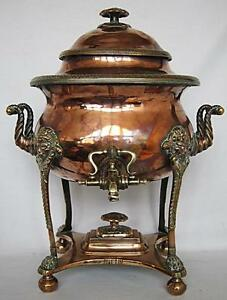 STUNNING GEORGIAN ANTIQUE COPPER SAMOVAR 1800 tea urn pot brass bronze vase