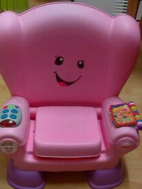 Pink Fisher price laugh and learn smart chair