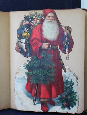Victorian Era Scrapbook Santa Die Cut