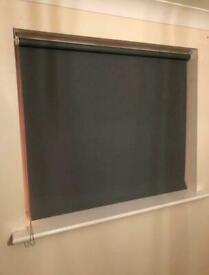 Grey Blackout Roller Blind w/ left hand control