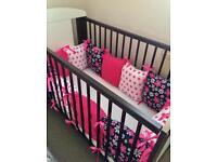 Cot bed pillow bumper