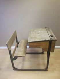 Antique / Vintage British School Desk