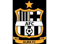 "11-a-side football players wanted for Cambridge Sunday League team ""The Alma FC"""