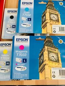 Epson Ink Cartridges (Colour & Black) T7