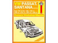 HAYNES VW PASSAT & SANTANA 1981 - 1988 PETROL MODELS