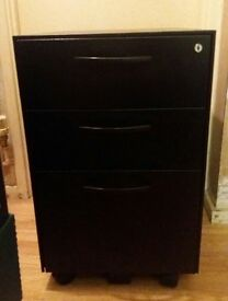 Black Metal Lockable Filling Cabinet Very Strong