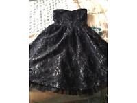 Navy blue lace effect size 8 dress