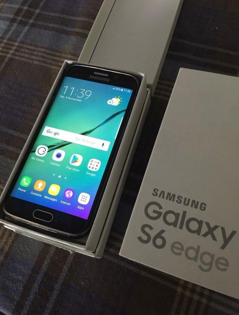 Samsung Galaxy S6 Edge Black (64GB) Mobile Phone, Unlocked, Boxed