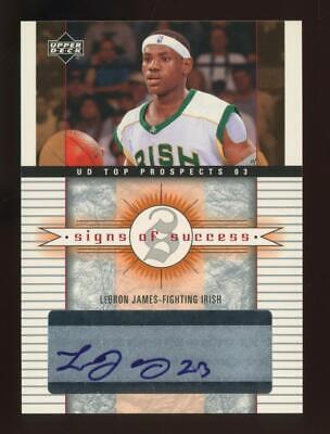2003 Upper Deck Top Prospects LeBron James Auto Autograph RC Rookie