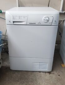 FREE DELIVERY 2 YEARS OLD Hotpoint large 8KG condenser tumble dryer WARRANTY