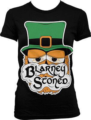 Blarney Stoned - Funny St Patrick's Day Sayings Irish Juniors T-shirt - St Patrick Sayings