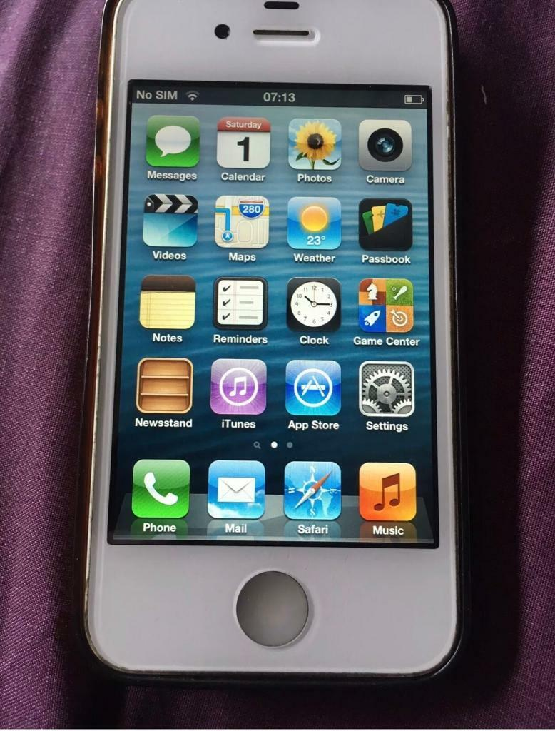 iPhone 4s 32gb white iOS 6 | in Ward End, West Midlands | Gumtree