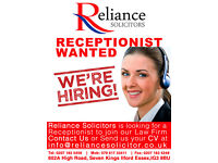 Part time receptionist required for a Law Firm