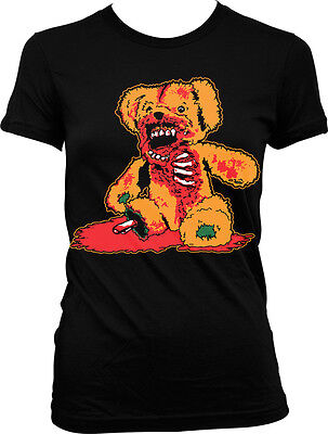 Zombie Teddy Bear- Halloween Scary Bloody Gory  Juniors - Scary Teddy Bear Halloween