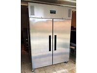 Polar Double Door Freezer Stainless Steel 1200Ltr - G595