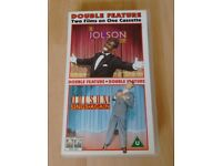 The Jolson Story (1946) and Jolson Sings again (1949) Double Cassette VHS