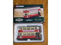 "Corgi model tram ""London Transport - Last Tram Week"" Model No 36704."