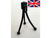 "1200 - Bulk Purchase POCKET UNIVERSAL MINI TRIPOD FLEXIBLE STAND MOUNT FOR CAMERAs 1/4"" SCREW"