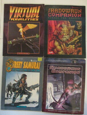 Shadowrun lot of 4 source books FASA Street Samurai Companion Virtual Realities