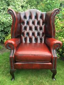 Wanted leather chesterfield chair