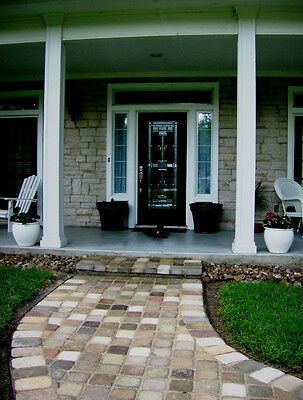 Cobblestone Concrete Mold - 24+6 FREE 9x9 CONCRETE COBBLESTONE MOLDS MAKE 1000s OF GARDEN PATIO FLOOR PAVERS