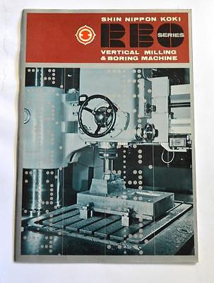 Shin Nippon Rbo Vertical Boring Milling Machine Brochure