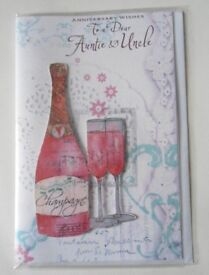 Aunt & Uncle Wedding Anniversary Cards - Large